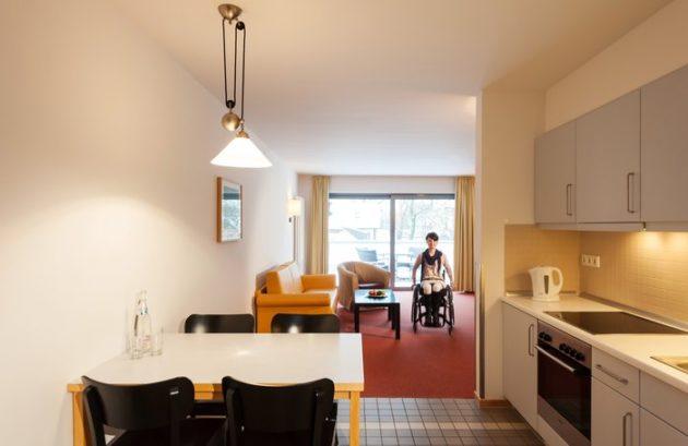 Innenansicht des mittleren Appartements